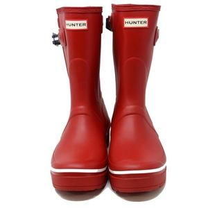 Hunter | Red Short Rain Boots